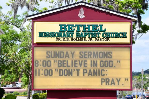 Bethel Missionary Baptist Church Tallahassee Coronavirus