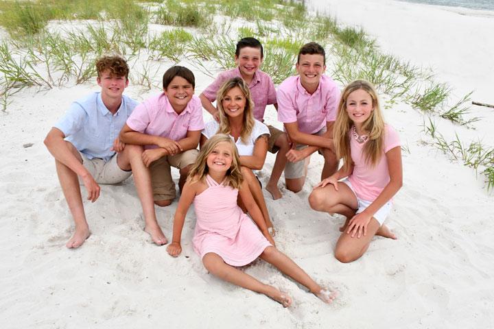Panama City Beach family portrait